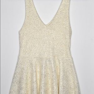 Urban Outfitters White Gold Sparkle Dress